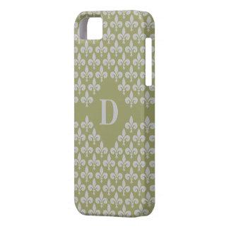 Custom Monogram Fleur-De-Lis iPhone Case-Mate
