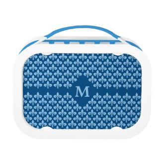 Custom Monogram Fleur-De-Lis lunch box