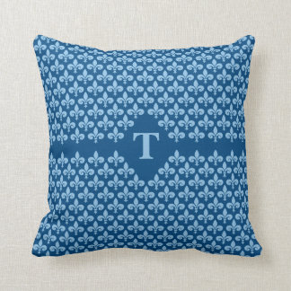 Custom Monogram Fleur-De-Lis throw pillow