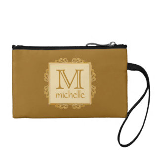 Custom Monogram Frame Pattern accessory bags