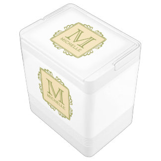 Custom Monogram Frame Pattern cooler Igloo Cool Box
