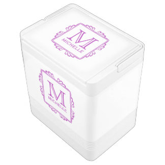 Custom Monogram Frame Pattern cooler Igloo Cooler