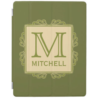 Custom Monogram Frame Pattern device covers iPad Cover