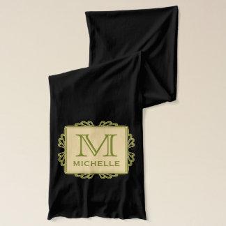 Custom Monogram Frame Pattern scarfs Scarf