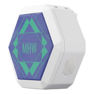 Custom Monogram Geometric Pattern speaker