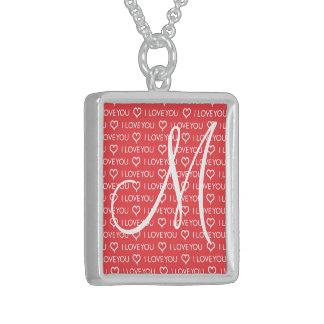 Custom Monogram Initial I Love You Heart Red Custom Jewelry