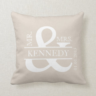 Custom Monogram Keepsake Wedding Pillow