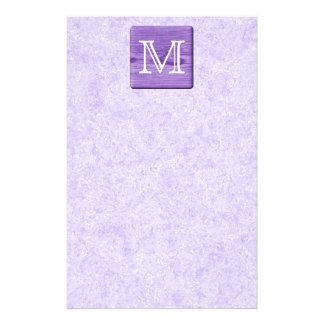 Custom Monogram Letter. Picture of Purple Wood. Flyers