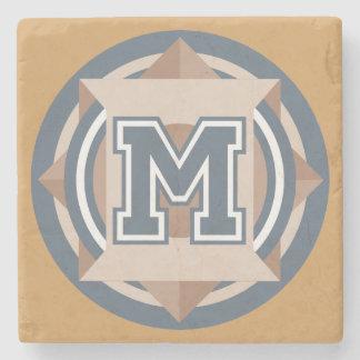 """Custom Monogram """"M"""" Initial Stone Coaster"""
