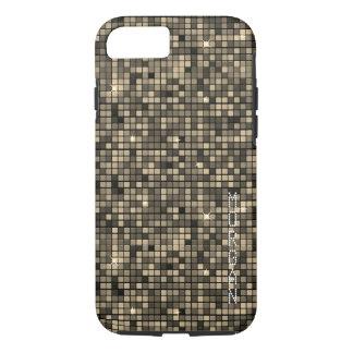 Custom Monogram, Modern Graphic Block Pattern - iPhone 8/7 Case