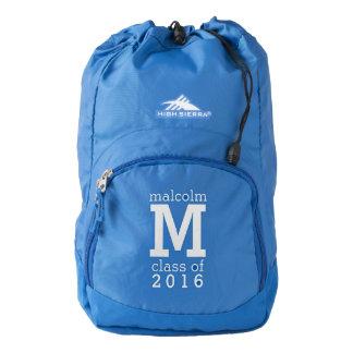 Custom monogram, name, class year & color backpack