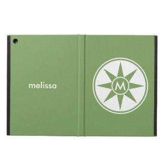 Custom monogram, name & color cases iPad air cover