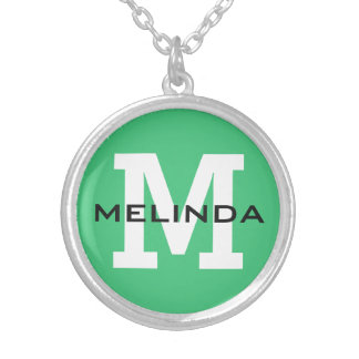Custom monogram, name & color necklaces