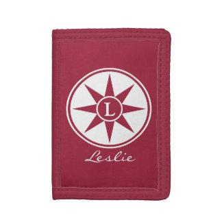 Custom monogram, name & color wallets