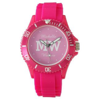 Custom monogram, name & color watches
