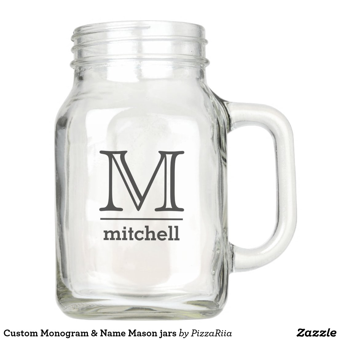 Custom Monogram & Name Mason jars