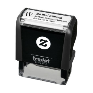 Custom Monogram Name Professional Return Address Self-inking Stamp