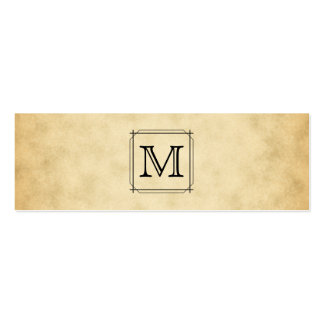 Custom Monogram on Parchment Style Pattern Pack Of Skinny Business Cards