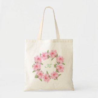 Custom Monogram Pink Dahlias