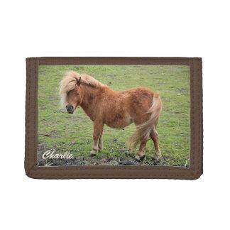 Custom monogram pony wallet