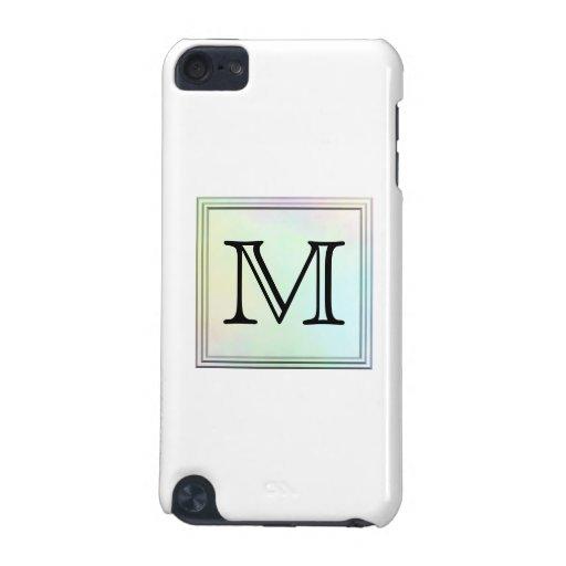 Custom Monogram. Pretty multicolor printed design. iPod Touch (5th Generation) Covers