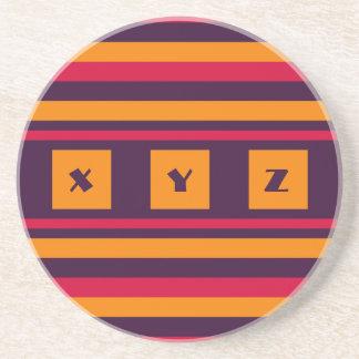 Custom Monogram Quilt pattern coaster