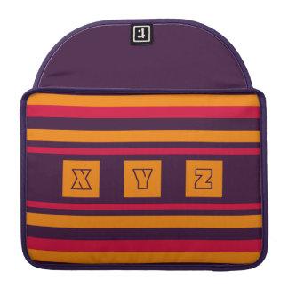 Custom Monogram Quilt pattern MacBook sleeves Sleeve For MacBooks