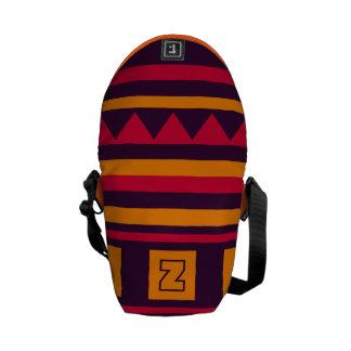 Custom Monogram Quilt pattern messenger bag