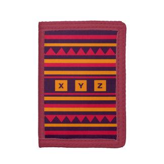 Custom Monogram Quilt pattern wallets