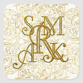 Custom  Monogram Sticker Shelley