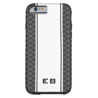 Custom monogram striped iPhone 6 case for men