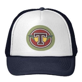 "Custom Monogram ""T"" Initials Hats"