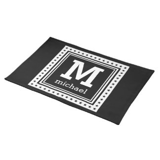 Custom monogram, text & color placemats