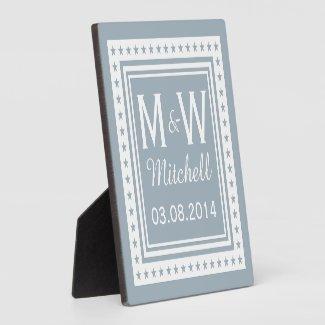 Monogram Wedding Plaque