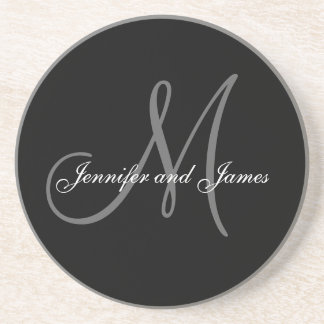 Custom Monogram Wedding Anniversary Coasters