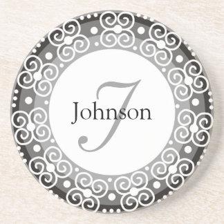 Custom Monogram Wedding Coaster