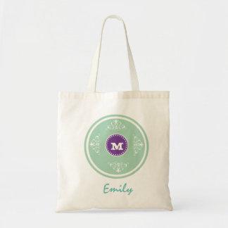 Custom Monogram Wedding Favor Tote Bag-Sage Budget Tote Bag