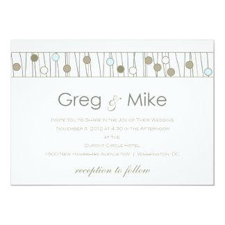 "Custom_Monogram Wedding Invitation 5"" X 7"" Invitation Card"