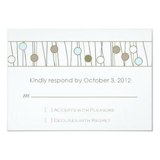 Custom_Monogram Wedding RSVP 3.5x5 Paper Invitation Card