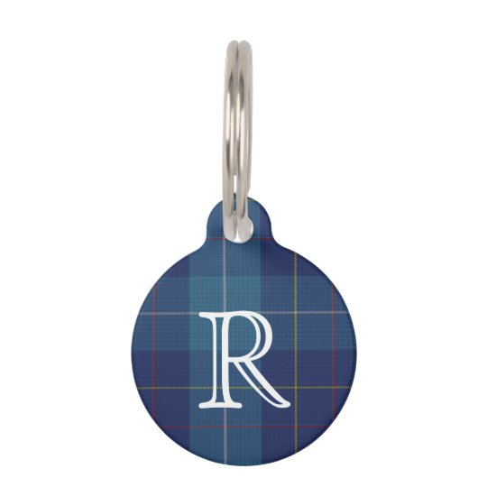 Custom Monogramed MacKerrell Plaid Dog Tag