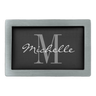 Custom monogrammed belt buckles for men and women