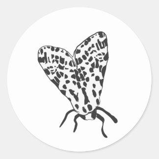 Custom Moth Sketch Sticker