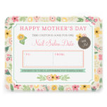 Custom Mother's Day Gift Coupon by Origami Prints Personalised Announcement