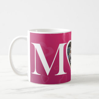 Custom Mothers Day M Heart M MOM Photo Mug