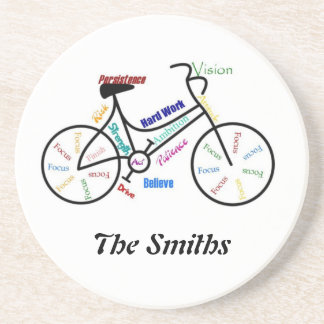 Custom Motivational Bike, Cycle, Sport Coaster