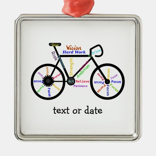 Custom Motivational Words for Bike Cycle Fans Christmas