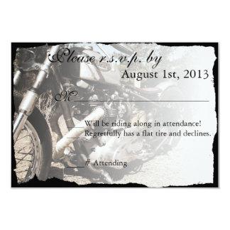 "Custom Motorcycle Biker Wedding RSVP card 3.5"" X 5"" Invitation Card"