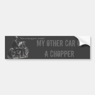 Custom Motorcycle Chopper Love Bumper Sticker