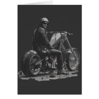 Custom Motorcycle Chopper Love Greeting Card