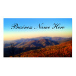 Custom Mountain Top Background Pack Of Standard Business Cards